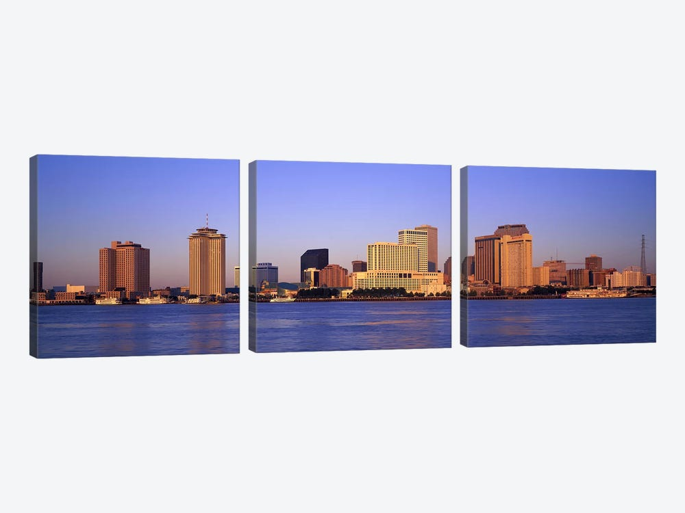 Sunrise, Skyline, New Orleans, Louisiana, USA 3-piece Canvas Print