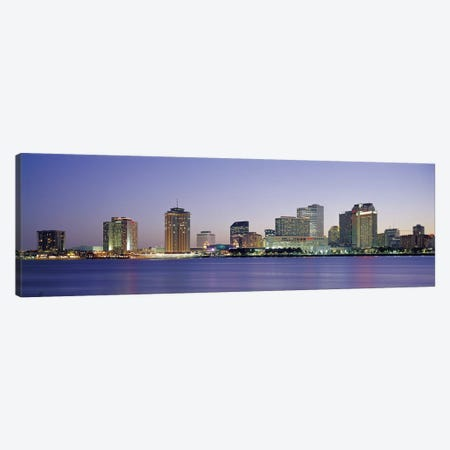 Night New Orleans LA Canvas Print #PIM2967} by Panoramic Images Art Print