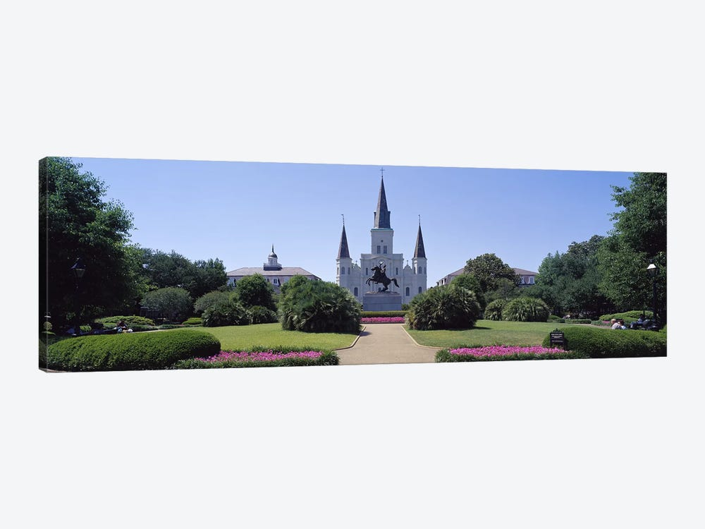 St Louis Cathedral Jackson Square New Orleans LA USA by Panoramic Images 1-piece Art Print