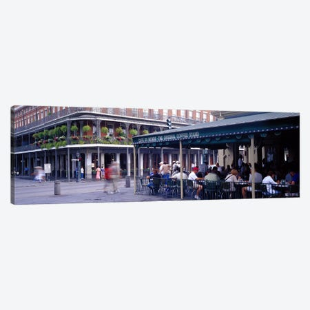 Cafe du Monde French Quarter New Orleans LA Canvas Print #PIM2970} by Panoramic Images Art Print
