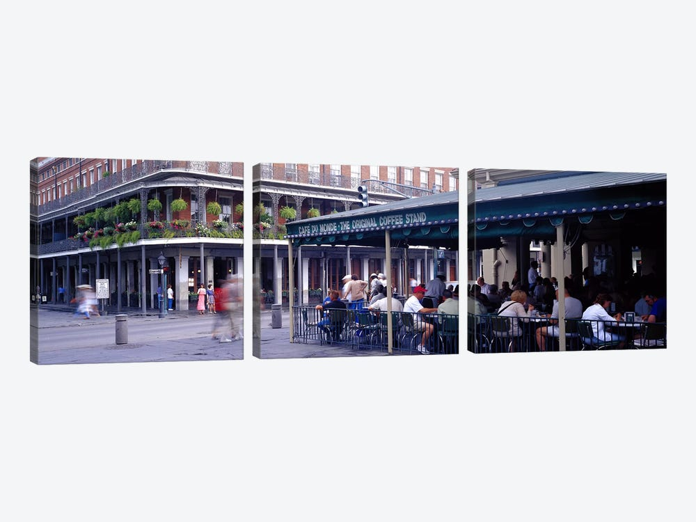 Cafe du Monde French Quarter New Orleans LA by Panoramic Images 3-piece Art Print