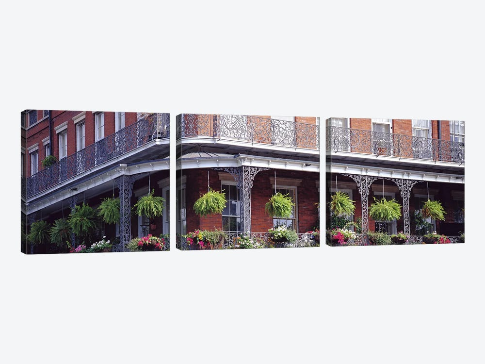 Jackson Square, French Quarter, New Orleans, Louisiana, USA by Panoramic Images 3-piece Canvas Art