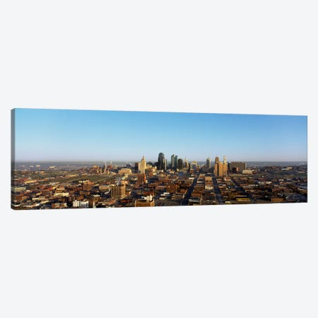 Aerial view of a cityscape, Kansas City, Missouri, USA Canvas Print #PIM2973} by Panoramic Images Canvas Art Print
