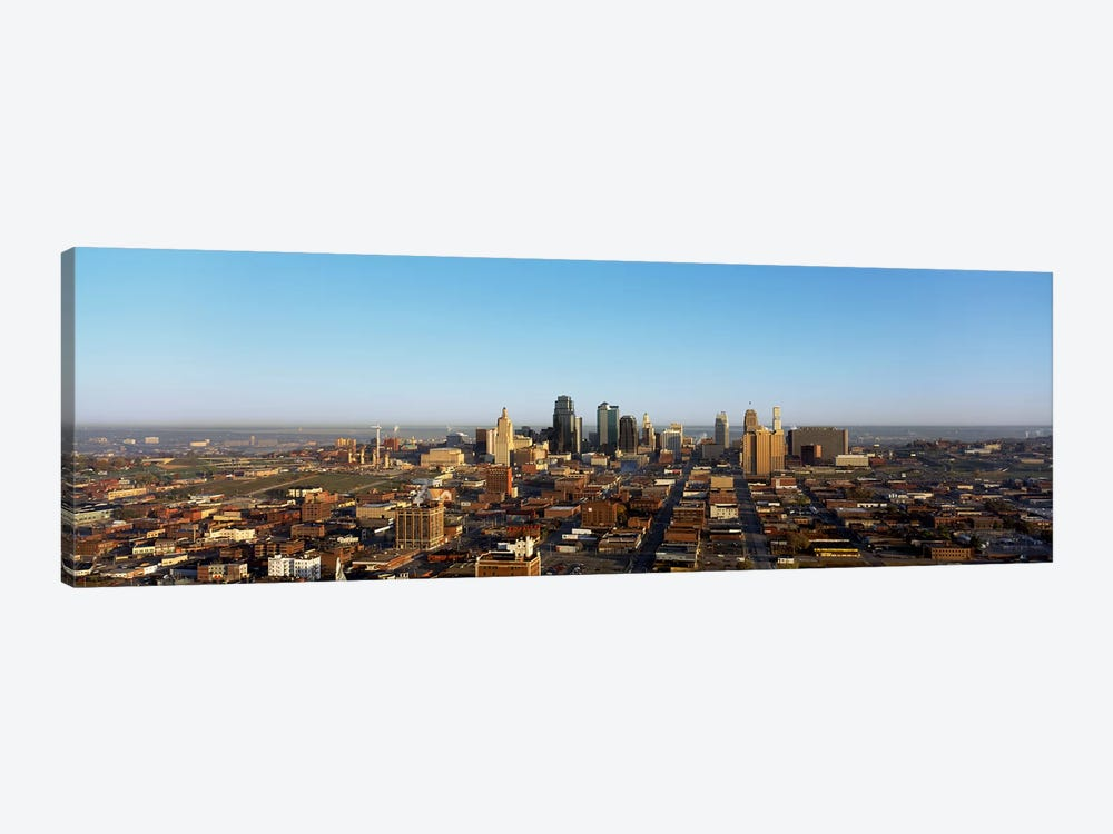 Aerial view of a cityscape, Kansas City, Missouri, USA by Panoramic Images 1-piece Canvas Wall Art