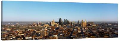 Aerial view of a cityscape, Kansas City, Missouri, USA Canvas Art Print