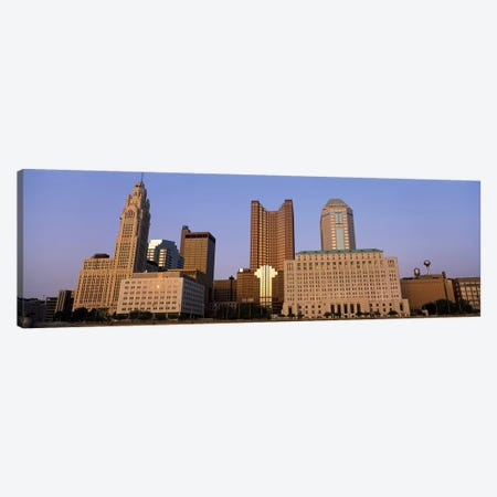 Buildings in a city, Columbus, Franklin County, Ohio, USA Canvas Print #PIM2974} by Panoramic Images Canvas Artwork