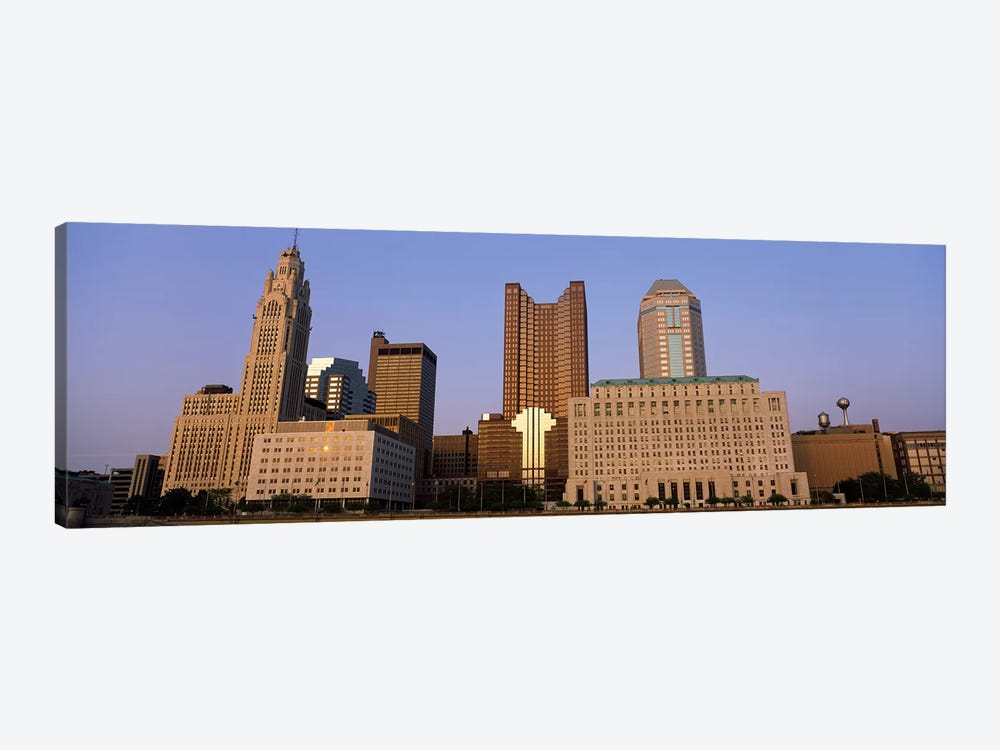 Buildings in a city, Columbus, Franklin County, Ohio, USA by Panoramic Images 1-piece Canvas Print