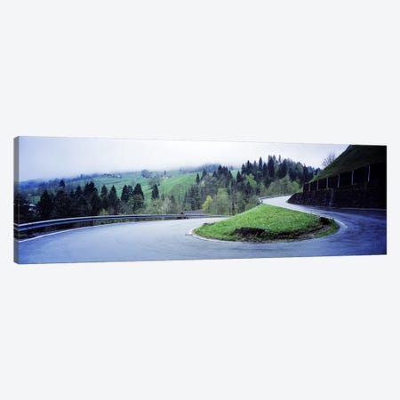 Curving Road Switzerland Canvas Print #PIM2975} by Panoramic Images Canvas Art