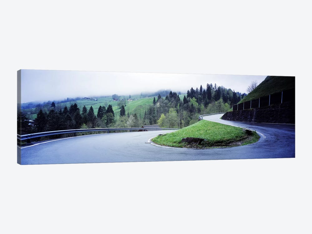 Curving Road Switzerland by Panoramic Images 1-piece Canvas Wall Art