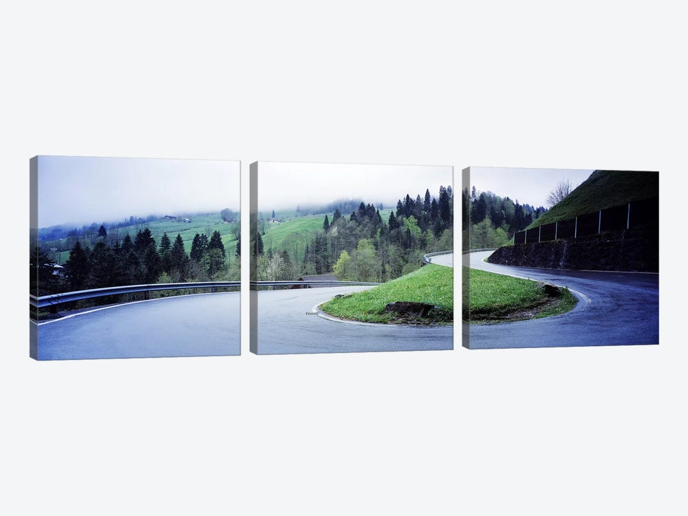 Curving Road Switzerland by Panoramic Images 3-piece Canvas Artwork