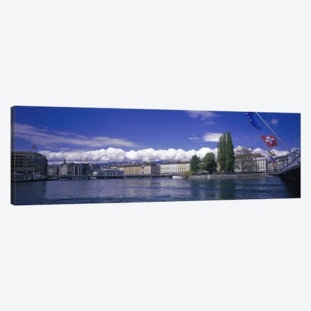 Rhone River Geneva Switzerland Canvas Print #PIM2976} by Panoramic Images Canvas Artwork