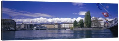 Rhone River Geneva Switzerland Canvas Print #PIM2976