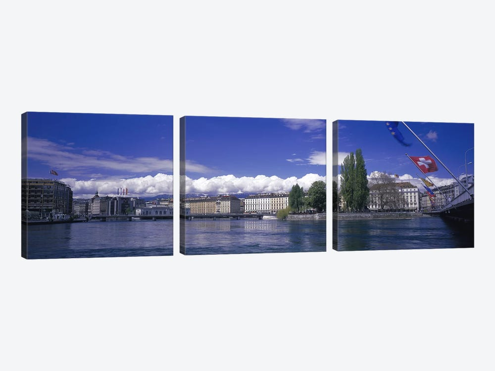 Rhone River Geneva Switzerland by Panoramic Images 3-piece Art Print