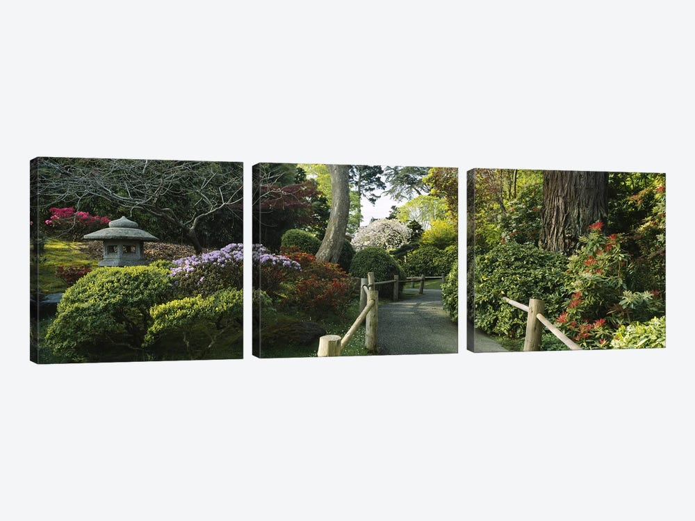 Japanese Tea Garden, San Francisco, California, USA by Panoramic Images 3-piece Canvas Art Print