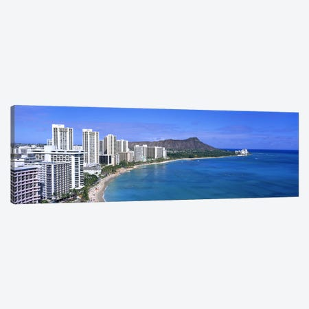 Waikiki Honolulu Oahu HI USA #2 Canvas Print #PIM2983} by Panoramic Images Canvas Wall Art