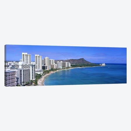 Waikiki Honolulu Oahu HI USA #2 Canvas Print #PIM2983} by Panoramic Images Canvas Wall Art
