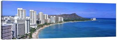 Waikiki Honolulu Oahu HI USA #2 Canvas Art Print