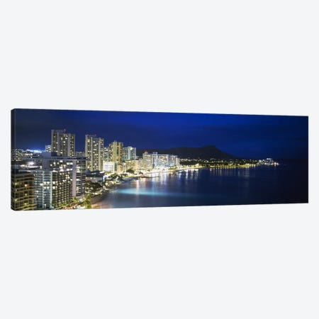 Buildings On The Waterfront, Waikiki, Honolulu, Oahu, Hawaii, USA Canvas Print #PIM2984} by Panoramic Images Canvas Art Print