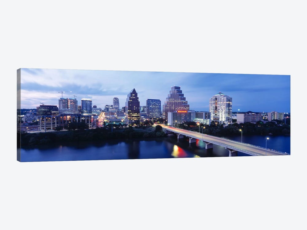 Night, Austin, Texas, USA by Panoramic Images 1-piece Canvas Art Print
