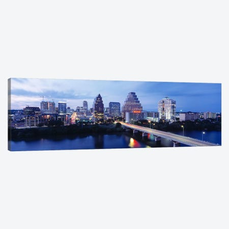 Night, Austin, Texas, USA Canvas Print #PIM2985} by Panoramic Images Art Print