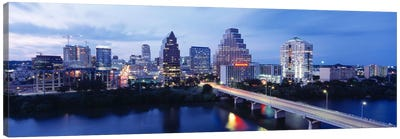 Night, Austin, Texas, USA Canvas Art Print