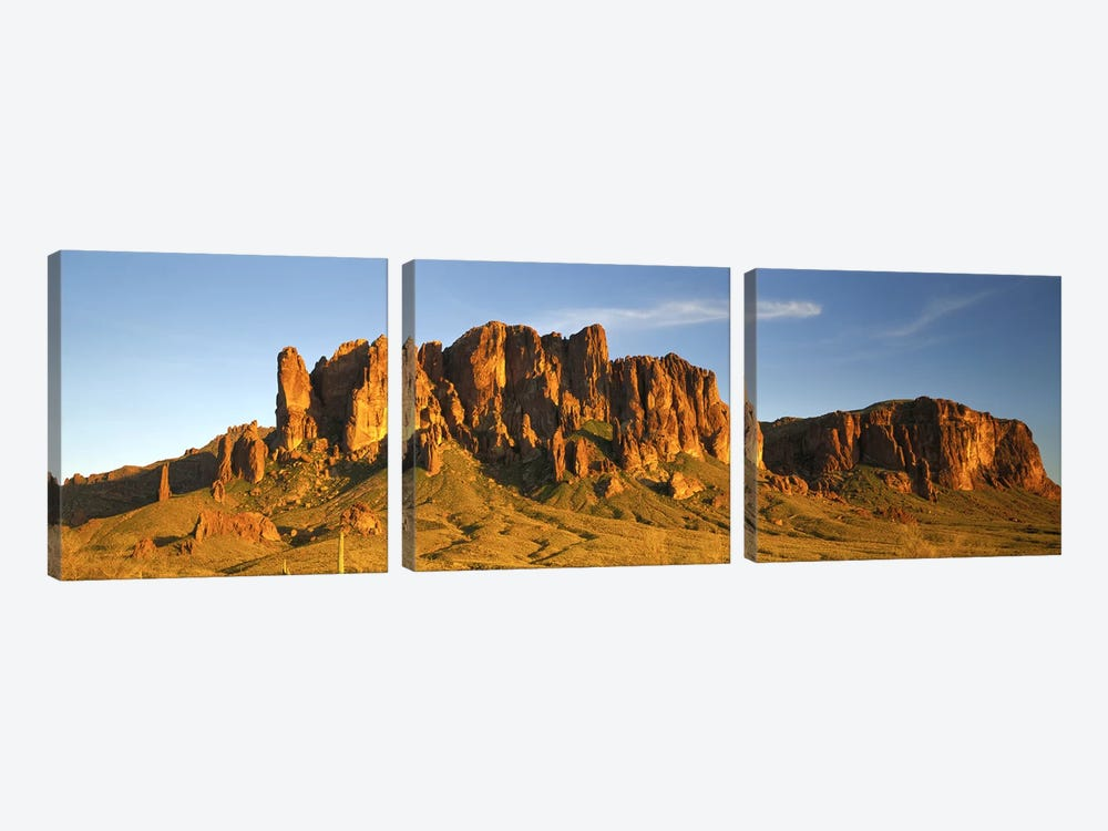 Superstition Mountain, Superstition Wilderness Area, Tonto National Forest, Arizona, USA by Panoramic Images 3-piece Canvas Wall Art