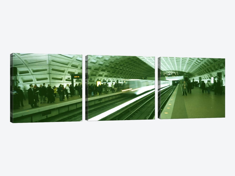 Metro Station Washington DC USA by Panoramic Images 3-piece Canvas Art Print
