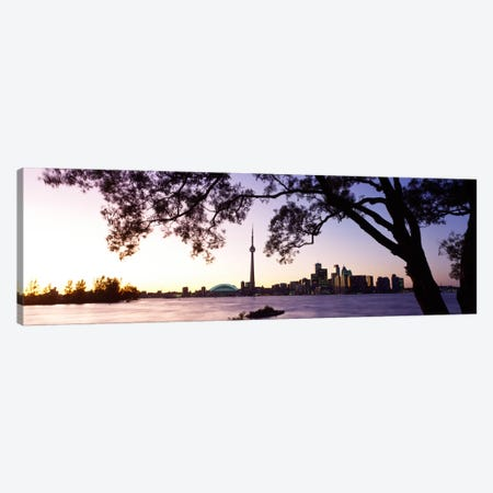 Skyline CN Tower Skydome Toronto Ontario Canada Canvas Print #PIM298} by Panoramic Images Art Print