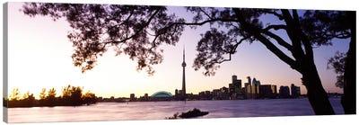 Skyline CN Tower Skydome Toronto Ontario Canada Canvas Print #PIM298