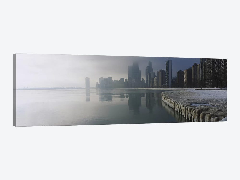 Buildings at the waterfront, Lake Michigan, Navy Pier, Michigan, Chicago, Cook County, Illinois, USA by Panoramic Images 1-piece Canvas Art Print