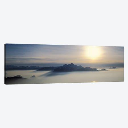 Mist Around Pilatus, Lucerne, Switzerland Canvas Print #PIM2995} by Panoramic Images Canvas Artwork