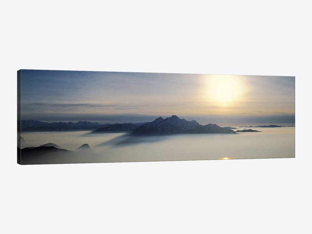 Mist Around Pilatus, Lucerne, Switzerland by Panoramic Images 1-piece Canvas Wall Art