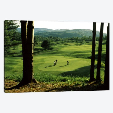 Golfers On A Green, Country Club Of Vermont, Waterbury, Washington County, Vermont, USA Canvas Print #PIM2996} by Panoramic Images Canvas Wall Art