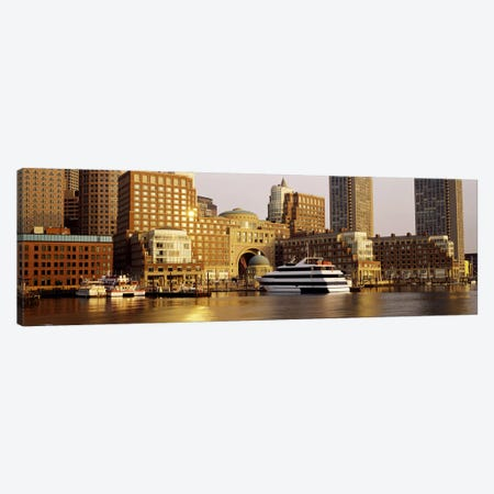 Buildings at the waterfront, Boston, Suffolk County, Massachusetts, USA Canvas Print #PIM2998} by Panoramic Images Art Print