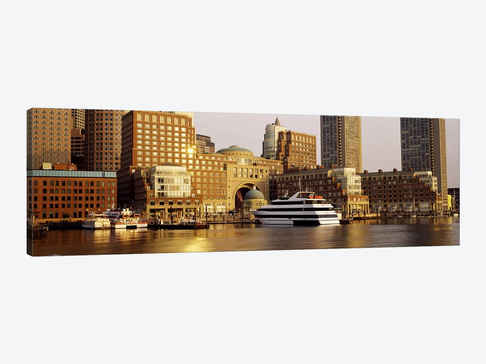 Buildings at the waterfront, Boston, Suffolk County, Massachusetts, USA by Panoramic Images 1-piece Canvas Print