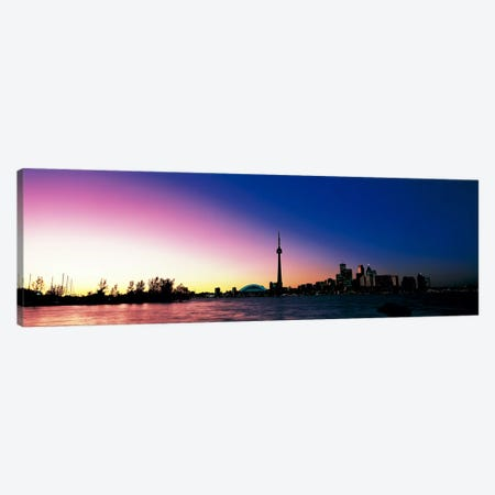 Skyline CN Tower Skydome Toronto Ontario Canada Canvas Print #PIM299} by Panoramic Images Canvas Print