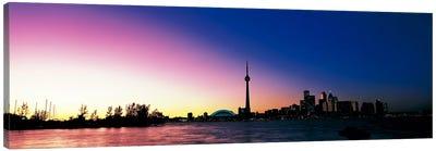 Skyline CN Tower Skydome Toronto Ontario Canada Canvas Print #PIM299