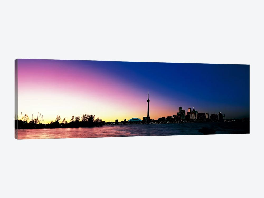 Skyline CN Tower Skydome Toronto Ontario Canada by Panoramic Images 1-piece Canvas Art Print