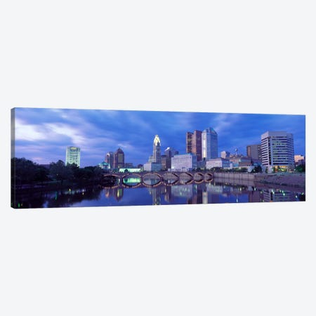 USA, Ohio, Columbus, Scioto River Canvas Print #PIM29} by Panoramic Images Canvas Wall Art