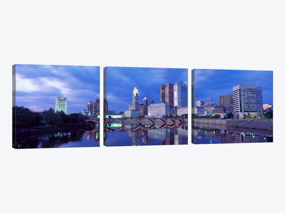 USA, Ohio, Columbus, Scioto River by Panoramic Images 3-piece Canvas Art Print