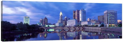 USA, Ohio, Columbus, Scioto River Canvas Art Print