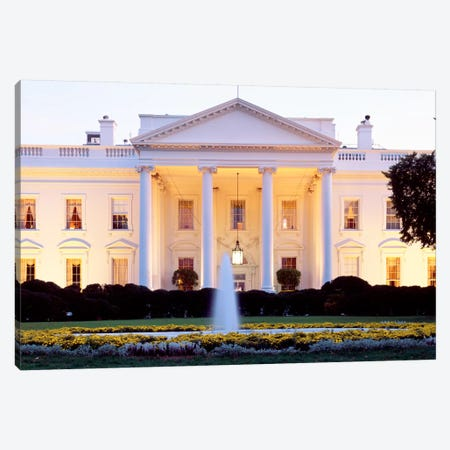 Northern Façade Portico, White House, Washington D.C., USA Canvas Print #PIM2} by Panoramic Images Canvas Art