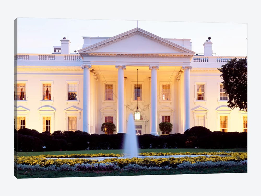 Northern Façade Portico, White House, Washington D.C., USA by Panoramic Images 1-piece Canvas Wall Art