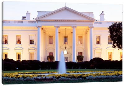 Northern Façade Portico, White House, Washington D.C., USA Canvas Art Print