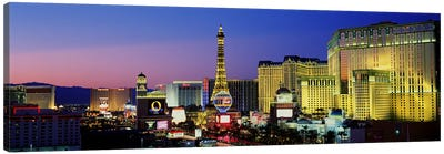 The Strip at Dusk, Las Vegas, Nevada, USA Canvas Art Print