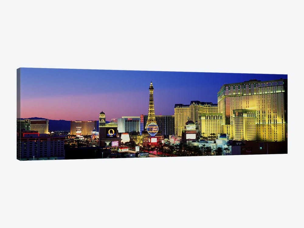 The Strip at Dusk, Las Vegas, Nevada, USA by Panoramic Images 1-piece Canvas Wall Art