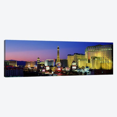 The Strip at Dusk, Las Vegas, Nevada, USA Canvas Print #PIM3000} by Panoramic Images Canvas Wall Art