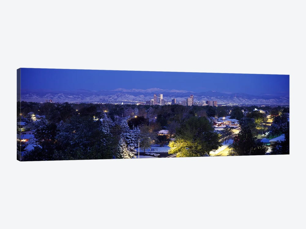 Buildings in a city, Denver, Denver County, Colorado, USA by Panoramic Images 1-piece Canvas Wall Art