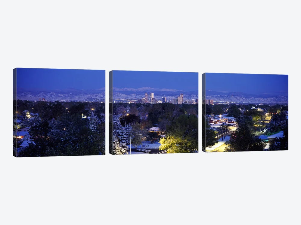 Buildings in a city, Denver, Denver County, Colorado, USA by Panoramic Images 3-piece Canvas Artwork