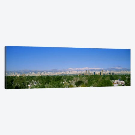 Buildings in a city with a mountain range in the background, Denver, Colorado, USA Canvas Print #PIM3003} by Panoramic Images Canvas Artwork